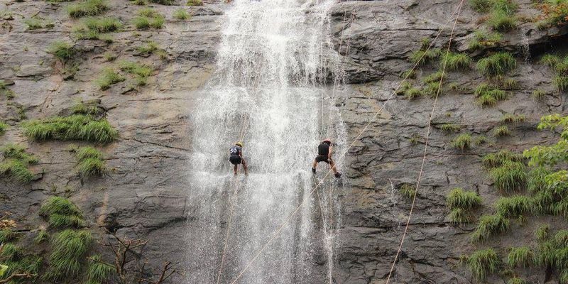 Dudhiware Waterfall Rappeling